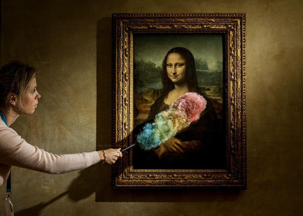 "Acredita-se que a ""Mona Lisa"" de Leonardo represente Lisa Gherardini, a esposa de Francesco del Giocondo, ..."