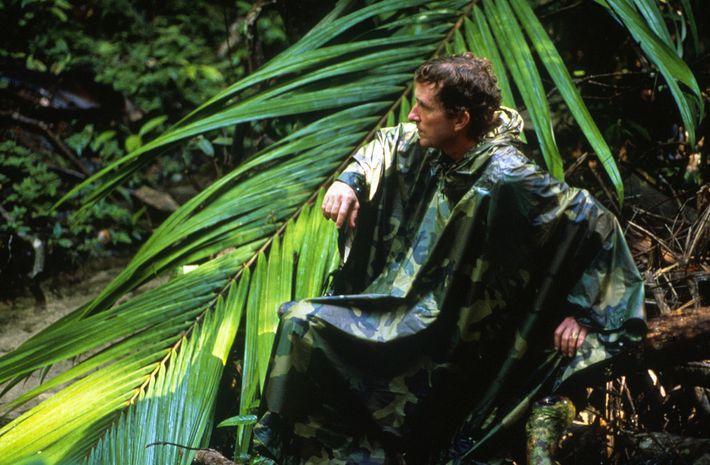 O pesquisador e autor deste artigoThomas Lovejoy na floresta amazônica, no Brasil, em 1989.