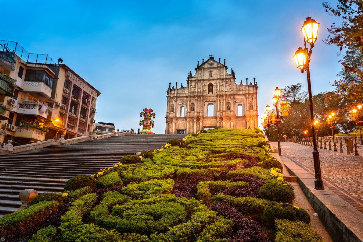 Cidade portuária em Macau