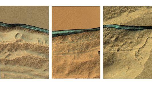 Enormes reservas de água são encontradas em Marte