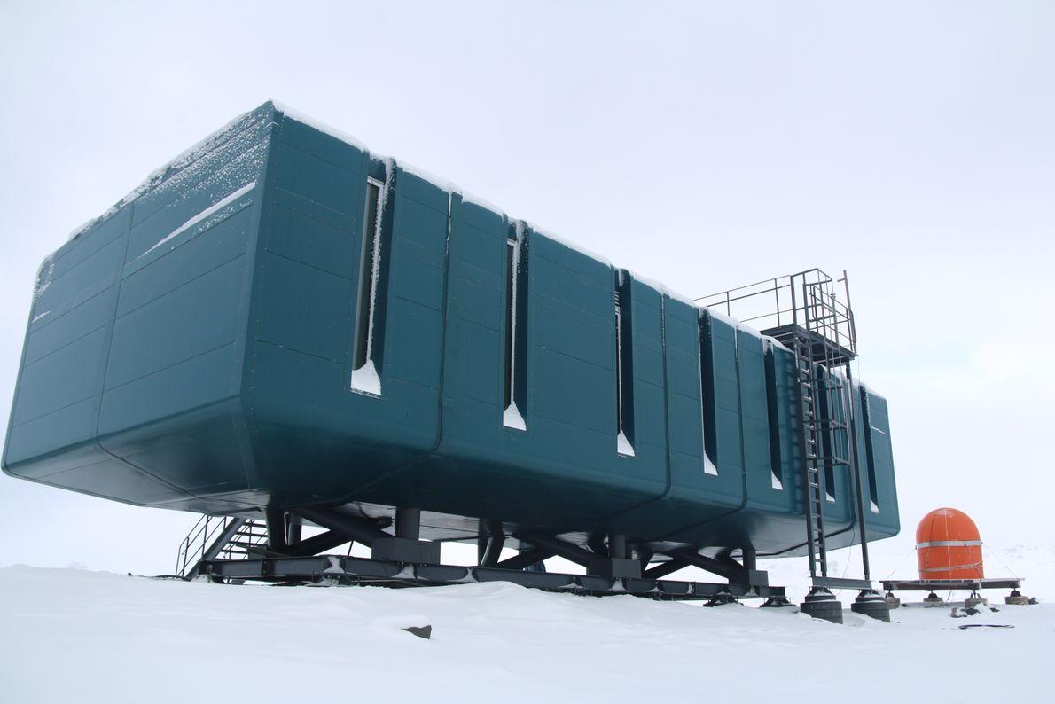 Módulo de meteorologia da nova estação Comandante Ferraz, na Antártida.