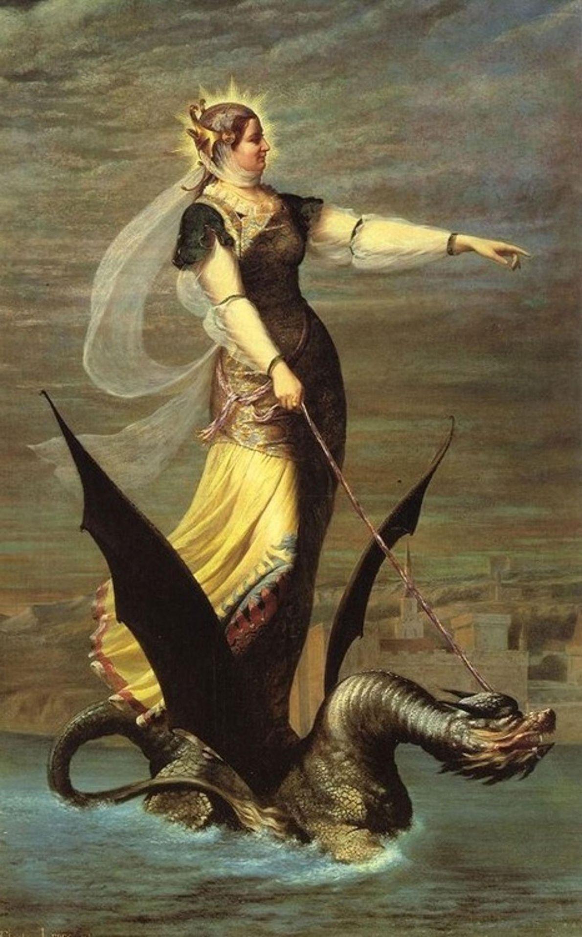Com o rosto de um leão, a cauda de uma serpente e espinhos afiados, o dragão ...