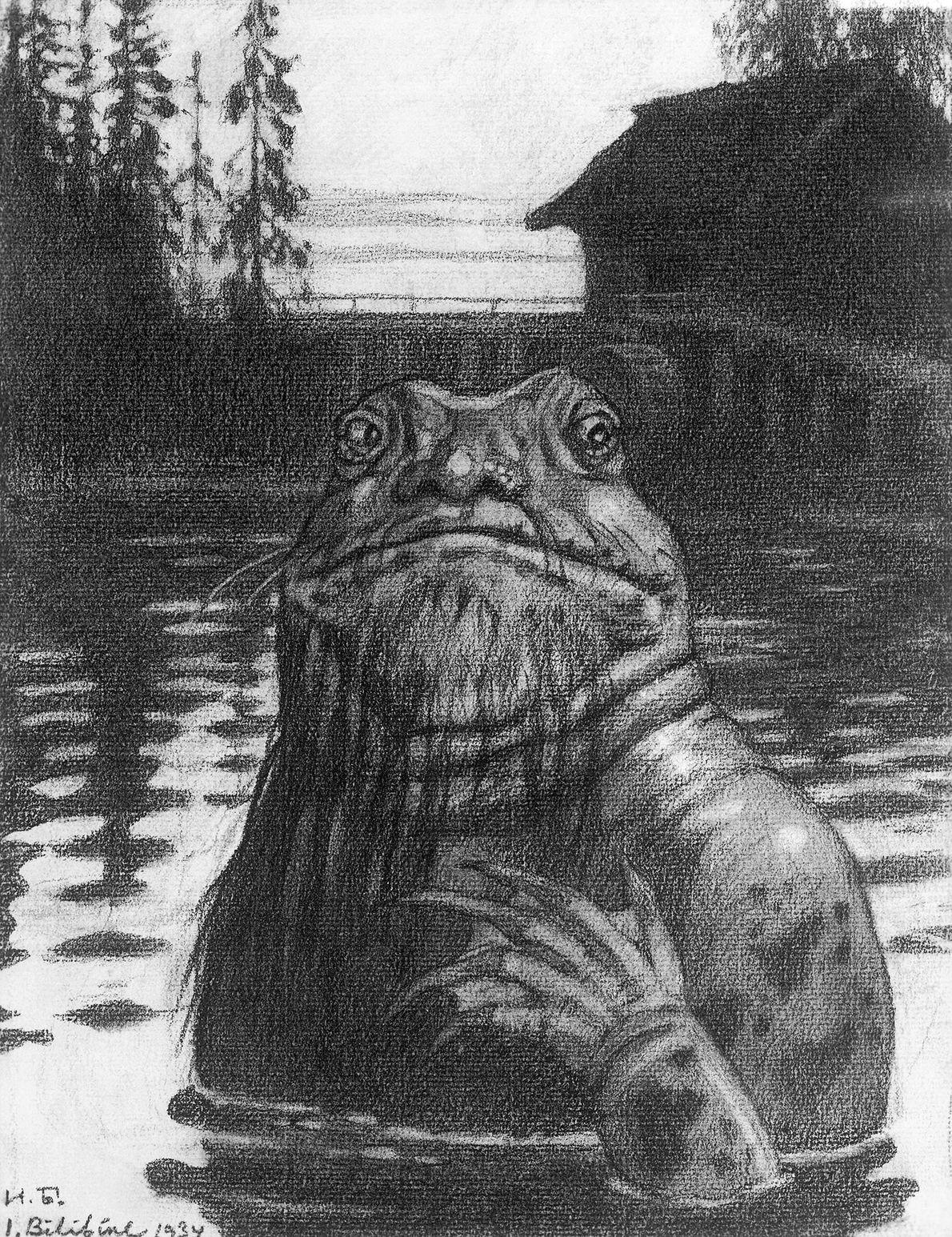 No folclore eslavo, a Vodyanoi é uma fada aquática maldosa que vive no fundo de lagoas, ...