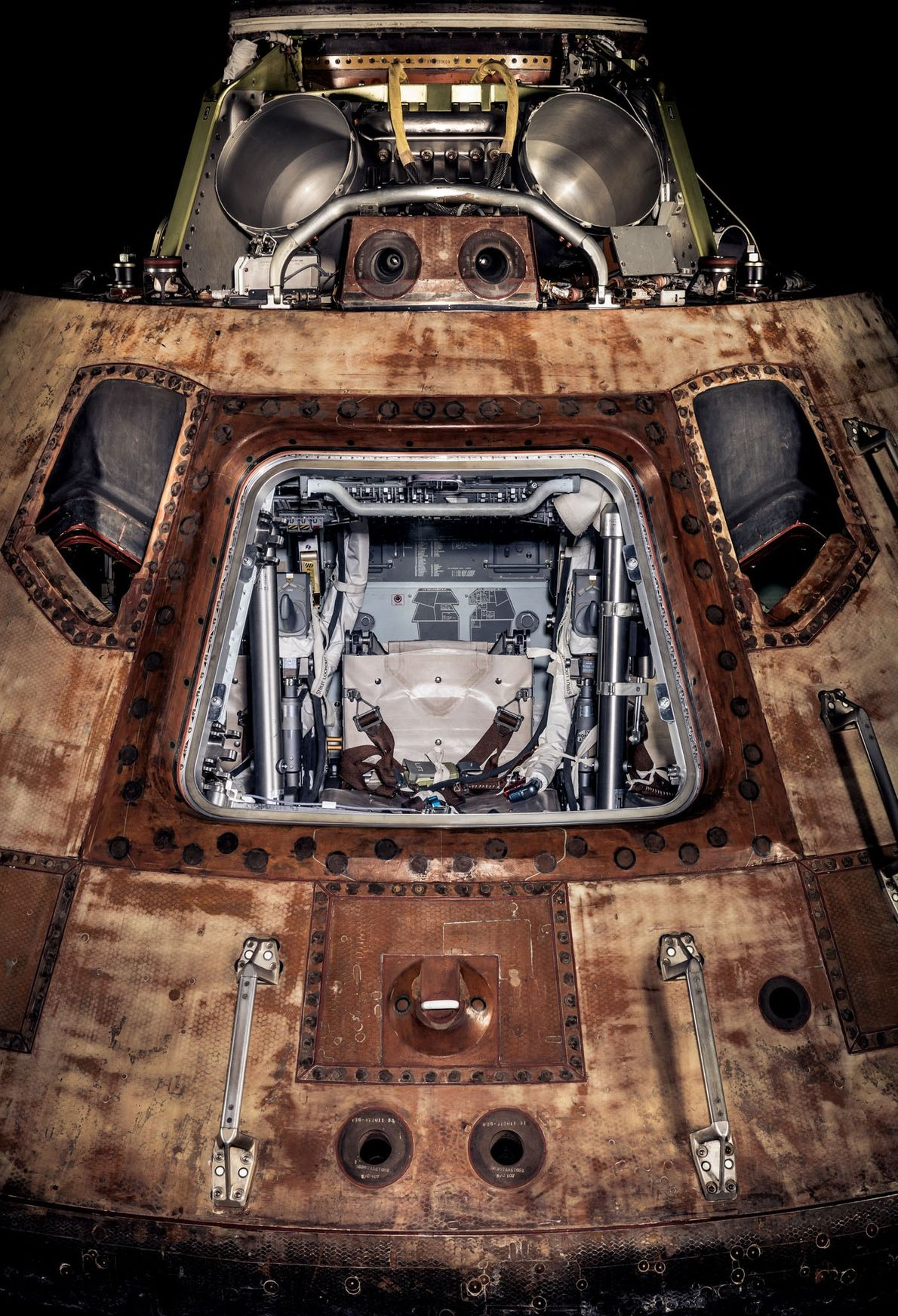 The Apollo 11 crew, including the first astronauts to land on the moon, were carried into ...