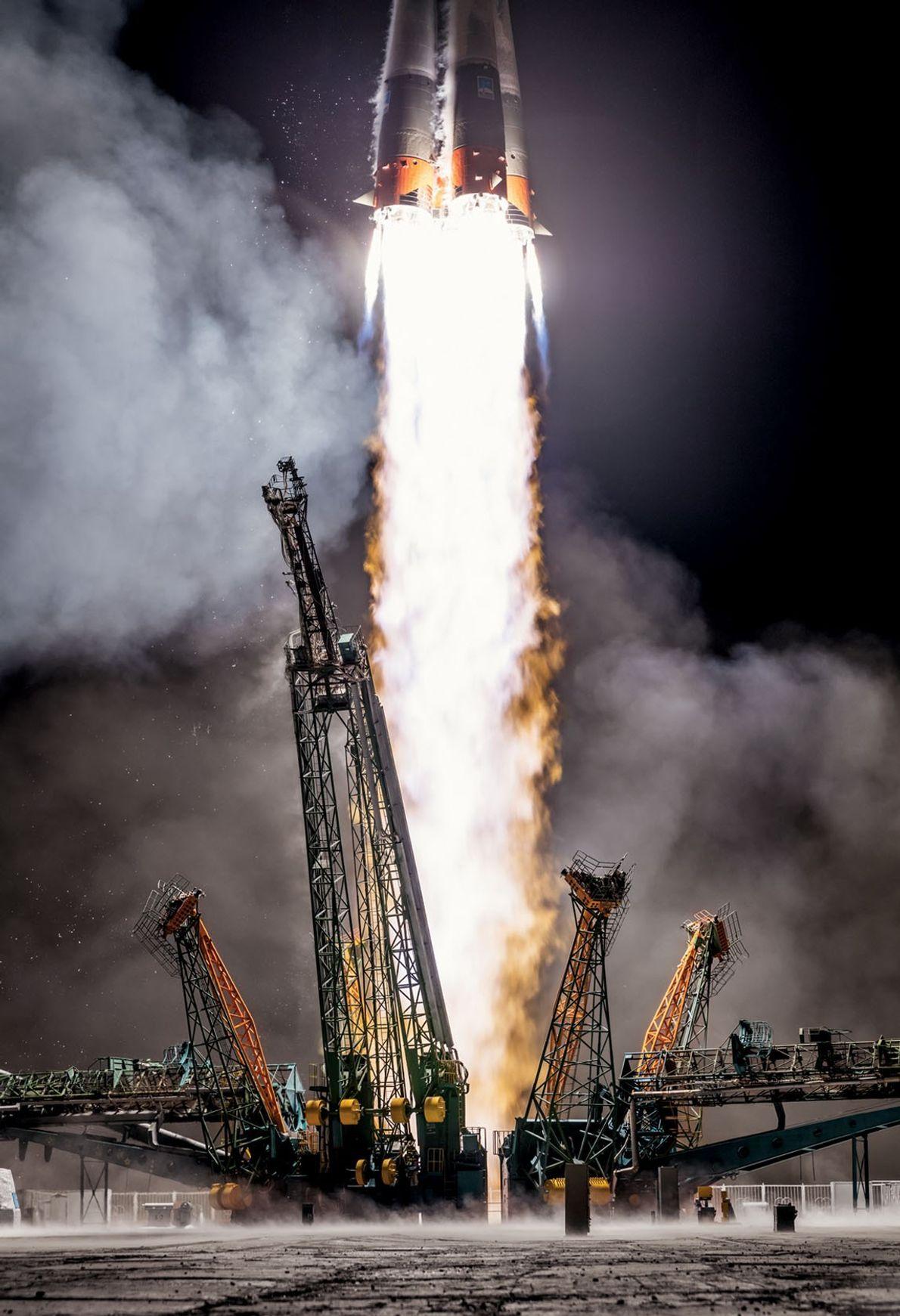 Com tecnologia antiga, mas ainda confiável, a Rússia lança um foguete Soyuz em março, a partir ...