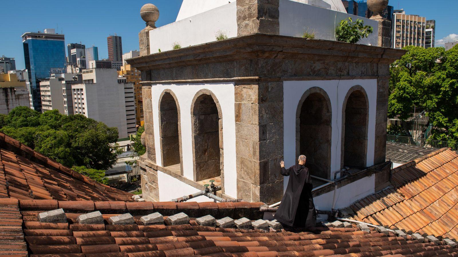 Teto o mosteiro de São Bento