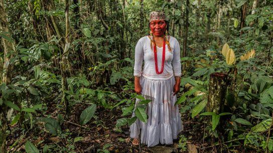 Waxy Yawanawa lidera o Centro Espiritual Mawa Yuxyn – Montanha dos Espíritos, às margens do rio ...