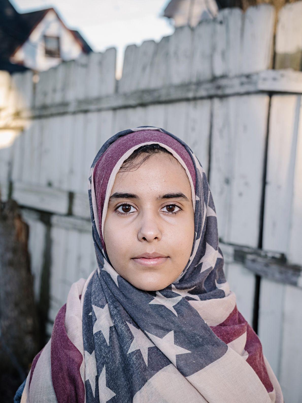 Iman Saleh, cujos pais são do Iémen, é estudante de jornalismo da Universidade Estadual de Wayne, ...