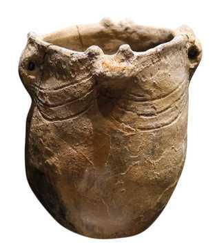 Vaso do Neolítico do tipo utilizado em Gibraltar na época de Calpeia.