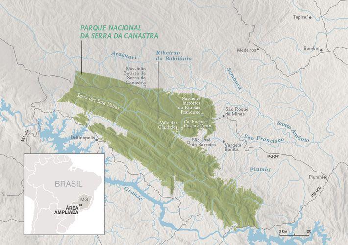 Criado em 1972, o Parque Nacional da Serra da Canastra tem uma área de 200 mil ...