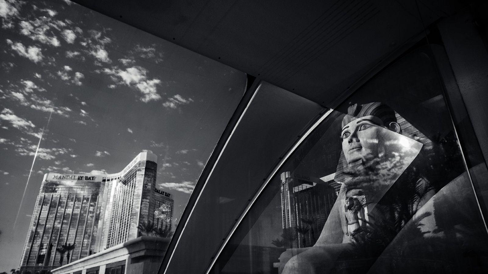 foto preta e branca de Las Vegas