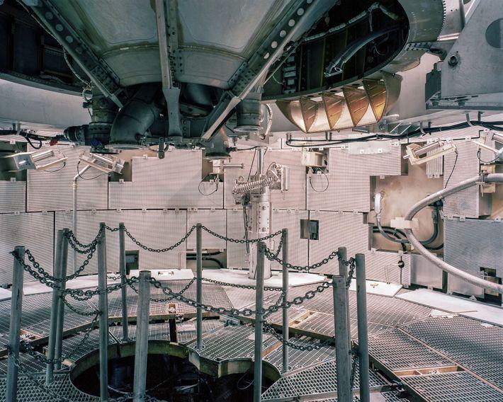 Os visitantes podem andar pelo fundo do míssil Titan II, sete andares abaixo da superfície. O ...
