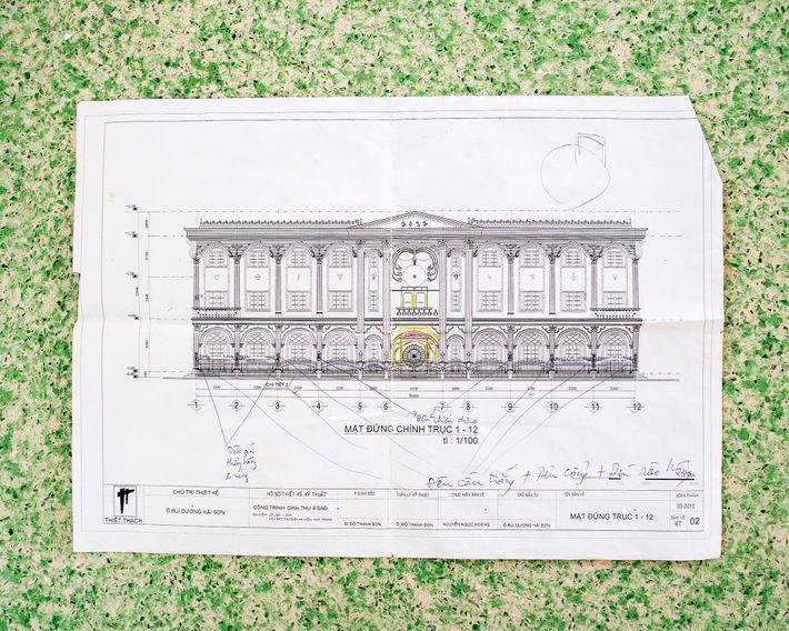 O projeto detalha a construção do Palácio das Revelações. O contrato estipulava que a construção seria ...