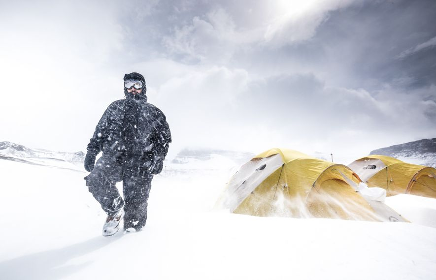 O trabalho de busca de fósseis depende das condições metereológicas no continente gelado. Às vezes, por ...