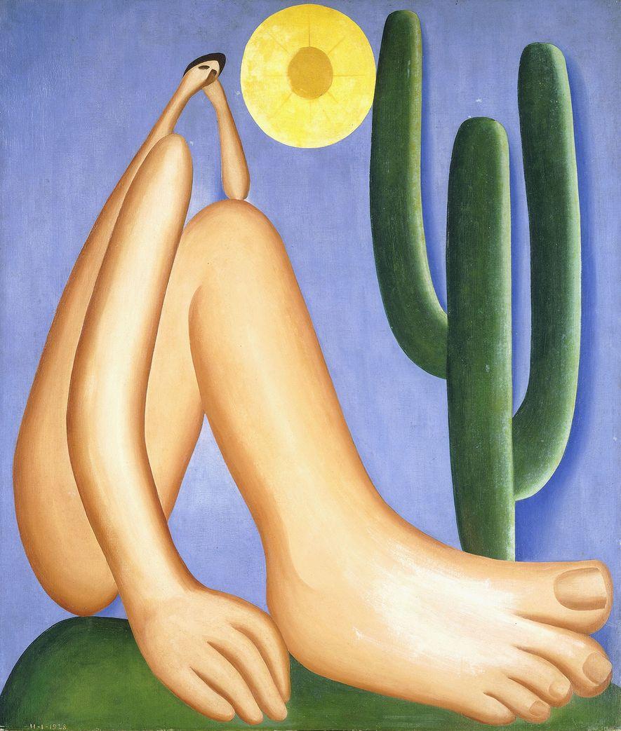 """Obras como o """"Abaporu"""", de Tarsila, foram cruciais para o crescimento do cenário artístico brasileiro."""