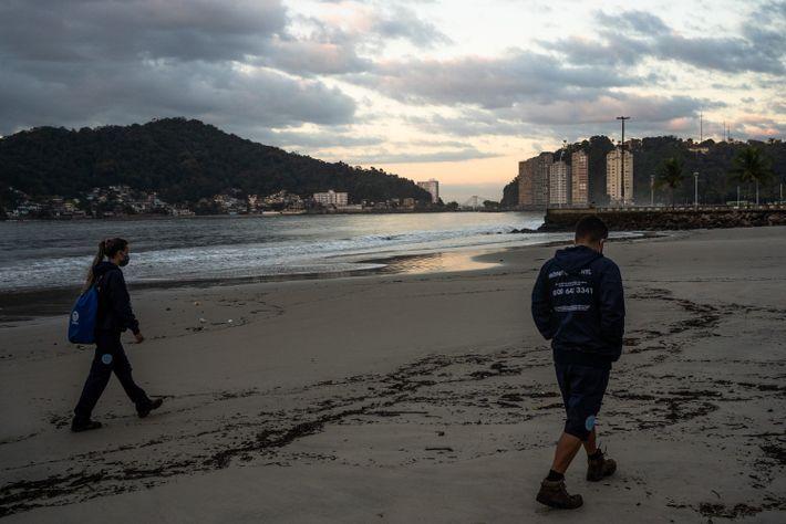 patrulhamento da praia