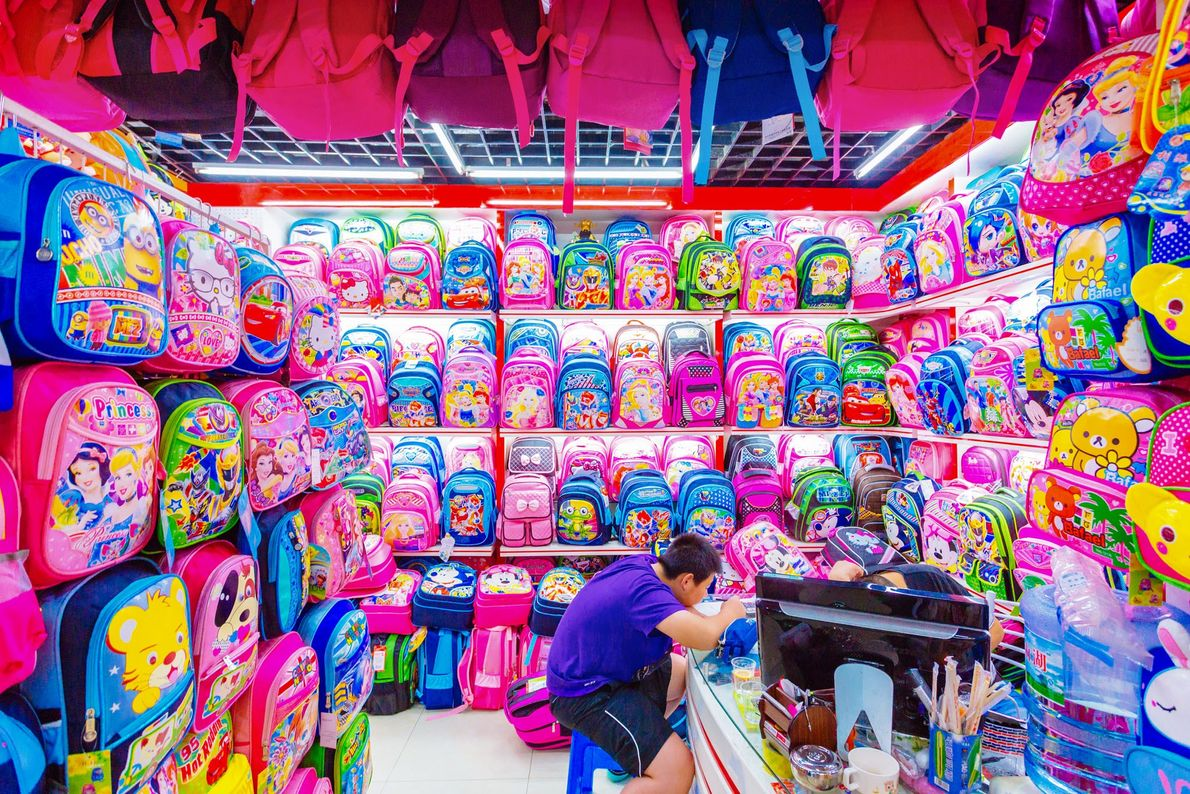 O Centro Internacional de Comércio de Yiwu, na província oriental chinesa de Zhejiang, é o maior ...
