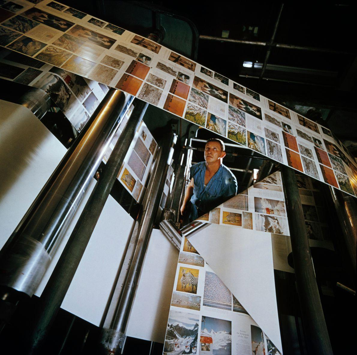 máquinas de impressão em papel de revista