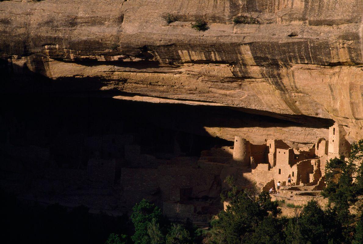 Foto de antigas estruturas construídas em pedra