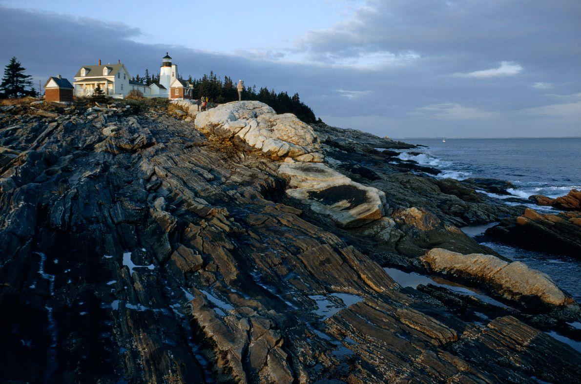 Farol na costa do Maine