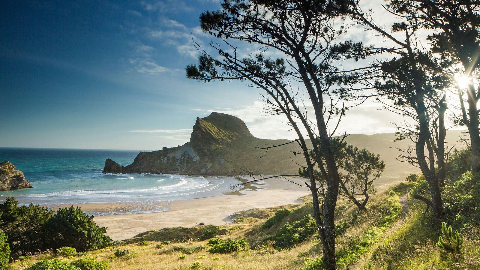 Castlepoint, na Ilha Norte da Nova Zelândia, oferece uma vista deslumbrante.