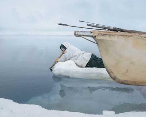 Os caçadores de baleia do norte do Alasca
