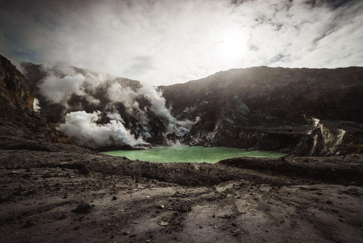 cratera de um vulcão