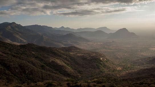 A área de Conservação Sarara, no norte do Quênia, onde pastores locais de 18 grupos étnicos ...