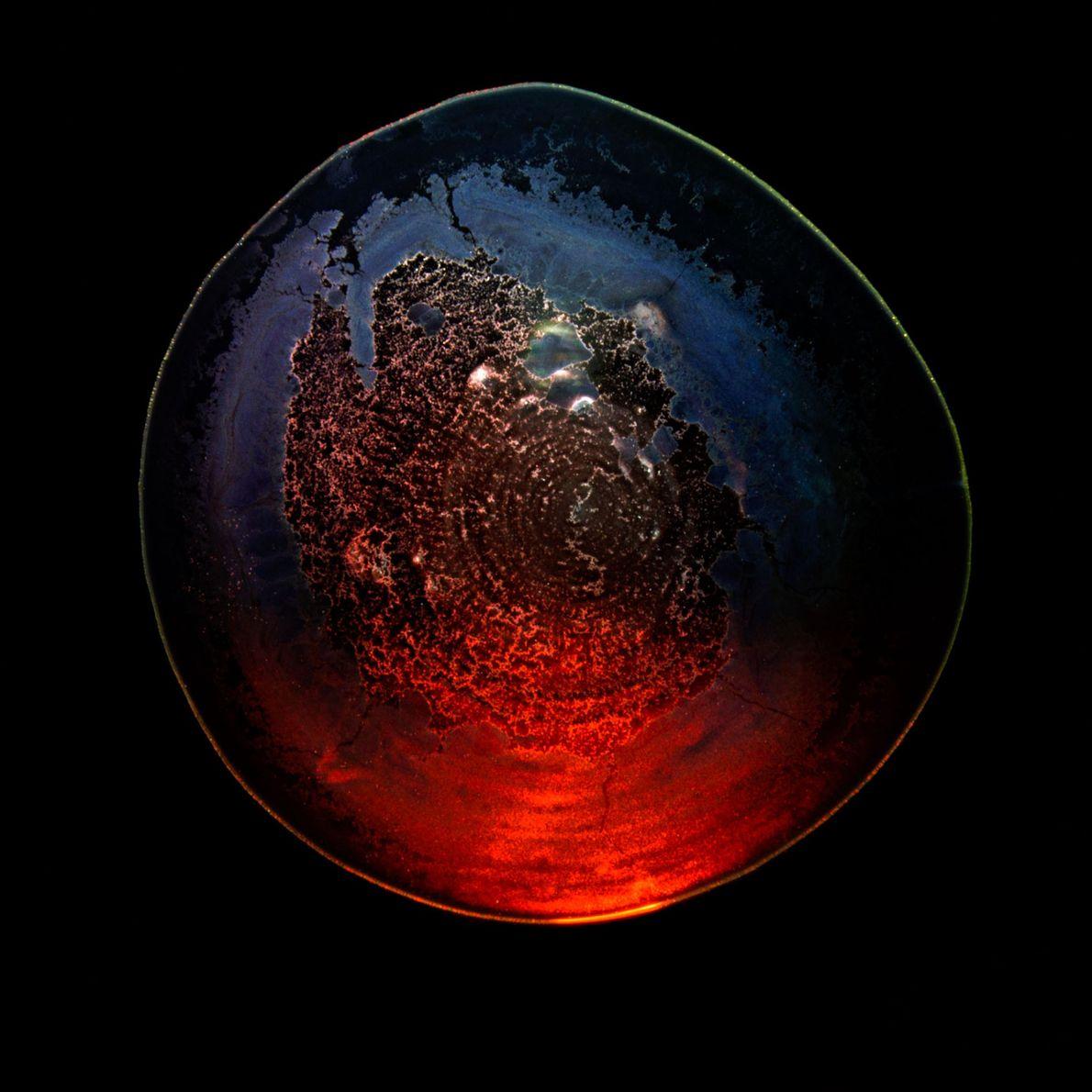 Galáxias de sedimentos em copos de uísque.