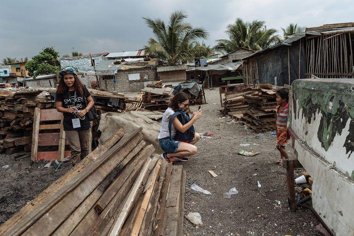 Favela em Baseco, Manila, Filipinas.