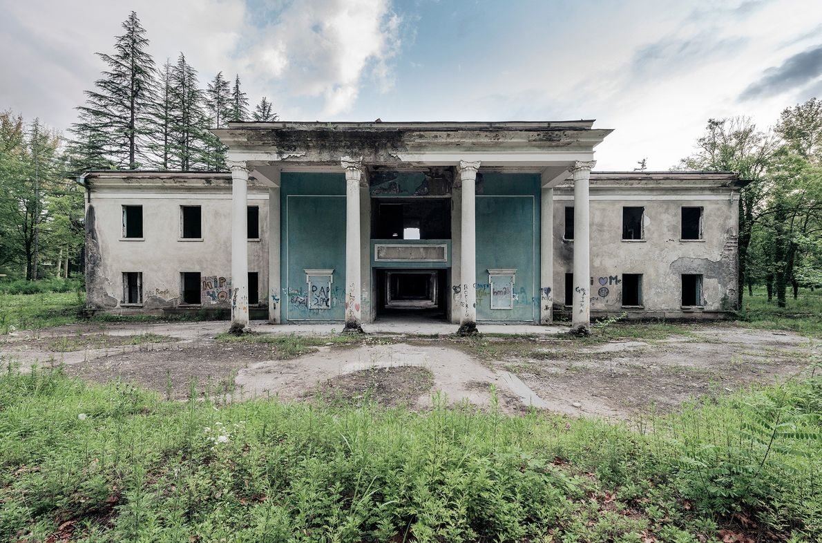 Homens e mulheres banhavam-se separadamente nos sanatórios.