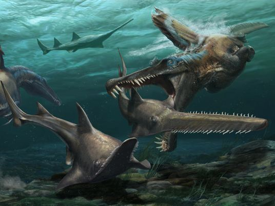 """Dente fossilizado reforça evidências do Spinosaurus, o """"monstro dos rios"""""""