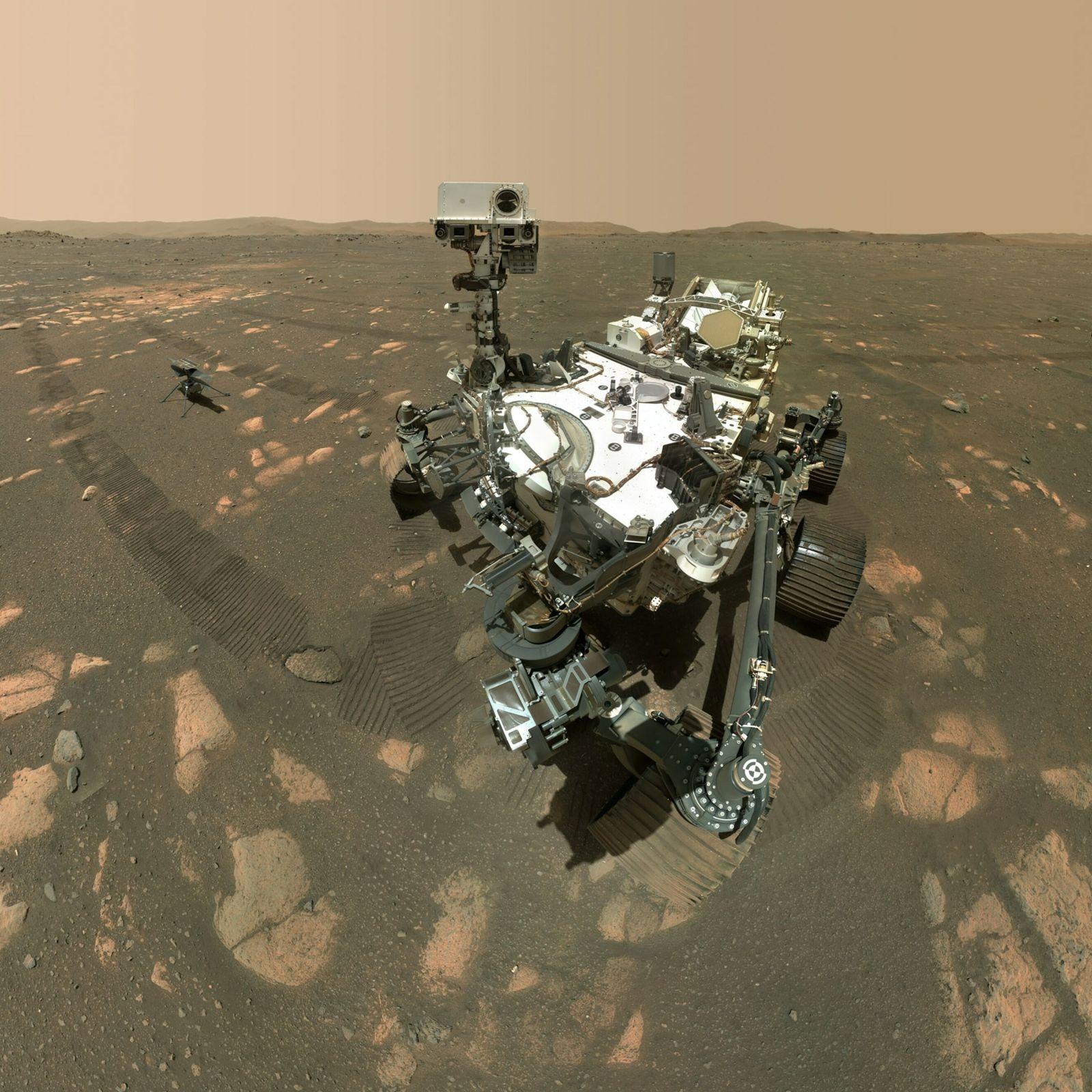 A sonda Perseverance da Nasa coletou, em Marte, sua primeira amostra de rocha para ser enviada ...