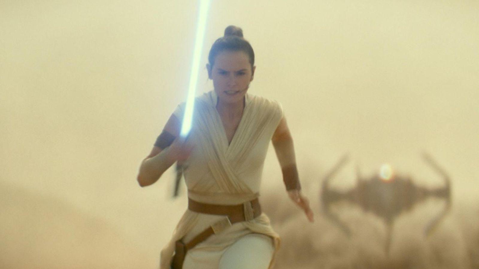 A personagem Rey, emStar Wars: AAscensão Skywalker.