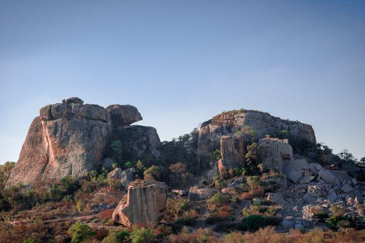 Morro do Tigre no município de Itatim (BA), na região da Chapada Diamantina. Aqui, dezenas de ...