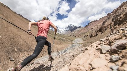 Corredora de trilhas faz história no pico mais alto da América do Sul