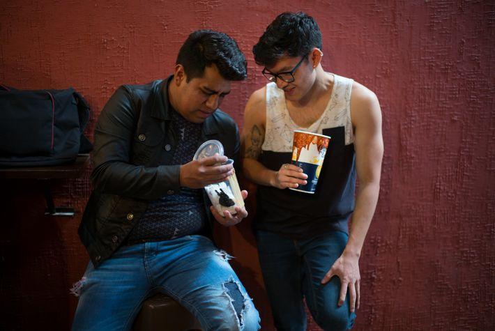 Entusiastas das aranhas se encontram em um bar na Cidade do México.