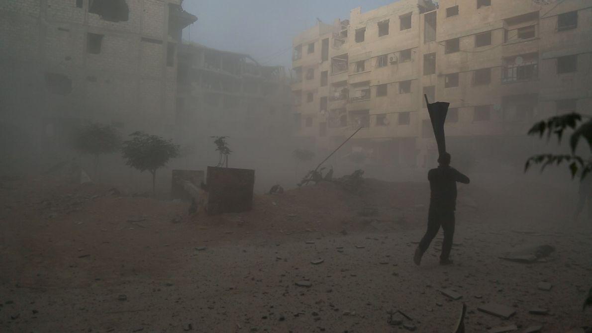O hospital fica na região de Ghouta, uma das mais atingidas pela guerra civil.