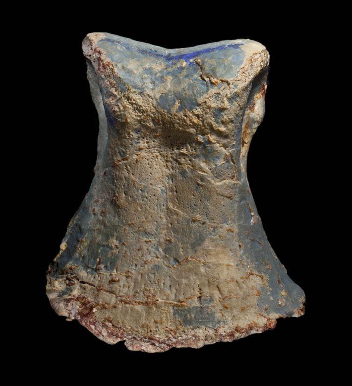 Este fóssil do osso de um dedo do pé pertencia a um indivíduo Fostoria dhimbangunmal. Os ...
