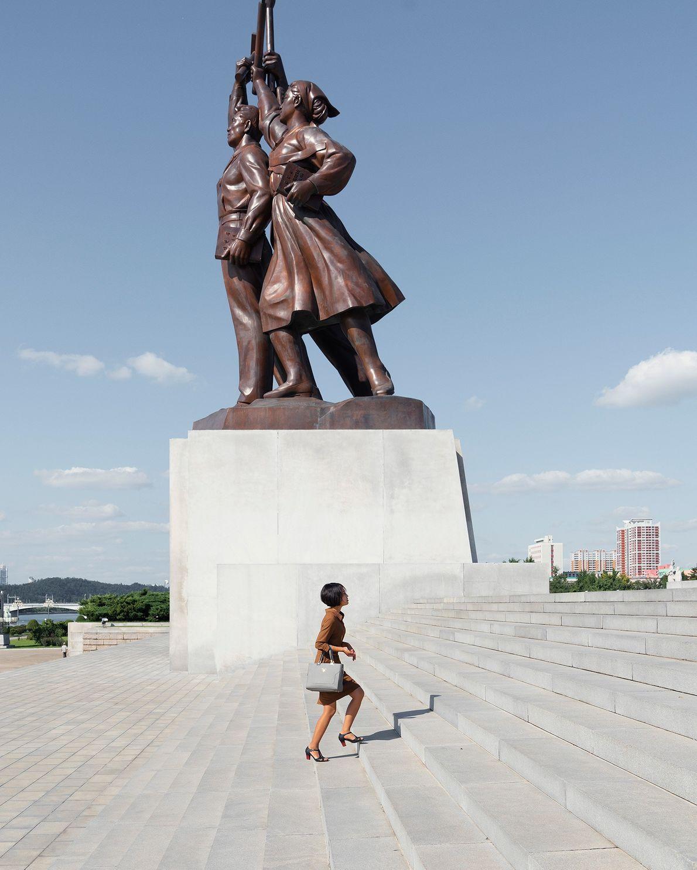 A Torre Juche é um monumento localizado na capital da Coreia do Norte.