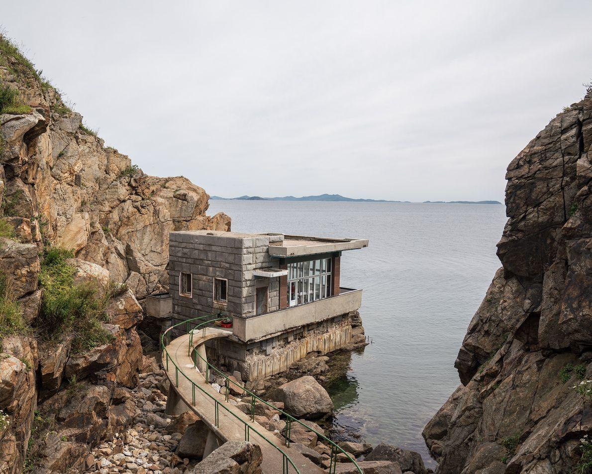 Um ponto de observação cênico na ilha Pipha oferece uma vista panorâmica do mar do Japão.