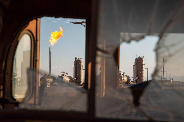 Campos de gás natural nos arredores de Pecos, Texas. O governo Trump mudou as normas referentes ...