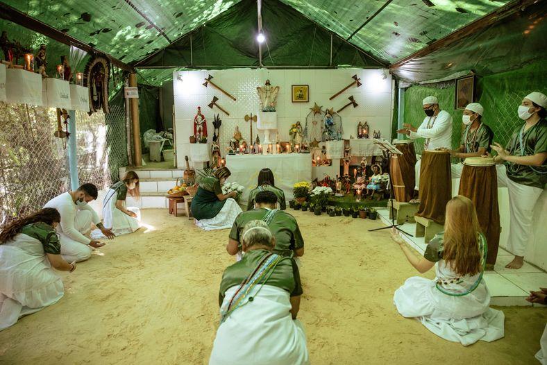 Templo de Umbanda Mamãe Oxum e Maria Bonita do Cangaço realiza suas atividades no Santuário Nacional ...