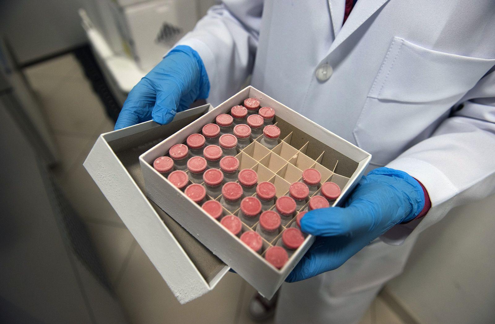 Amostras da vacina candidata da Universidade de Oxford, aChAdOx1, no Instituto D'Or de Pesquisa e Ensino ...