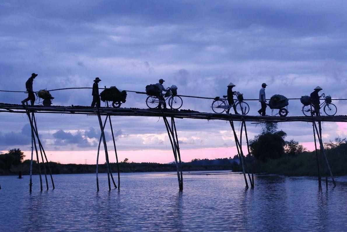 Bamboo Bridge in Vietnam