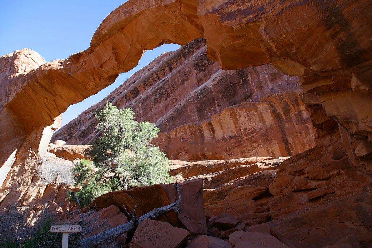 Arco da parede, parque nacional arches, Utah