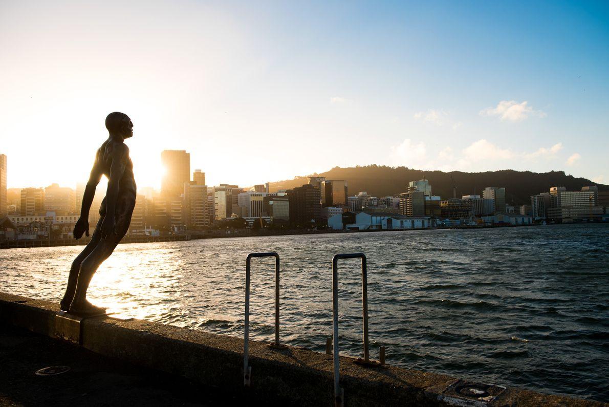A orla de Wellington é uma região popular que atrai os locais e visitantes para atividades ...