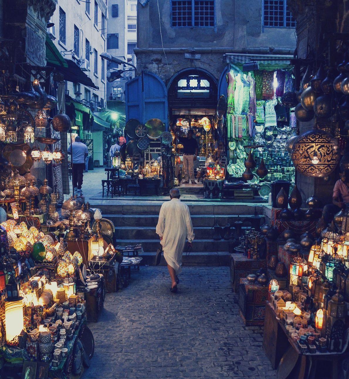 Cairo é uma cidade barulhenta e cheia, mas esta imagem silenciosa revela a calma que pode ...